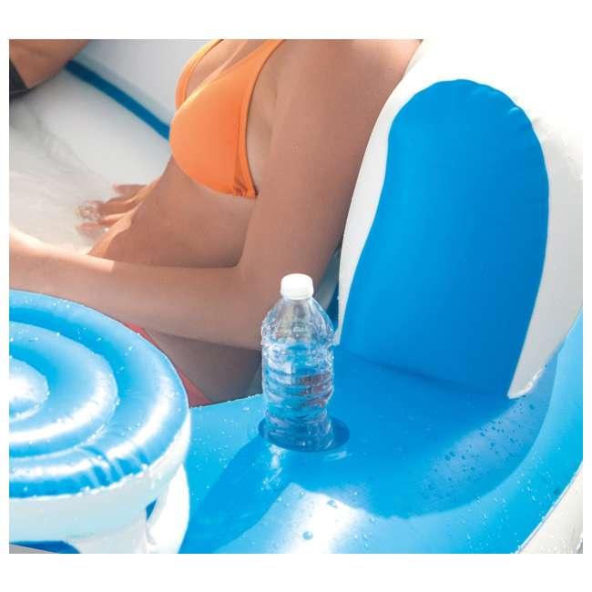 56299EP + 66639E Inflatable Island Pool Lake Raft Float Lounger w/ AC Electric Air Pump 6