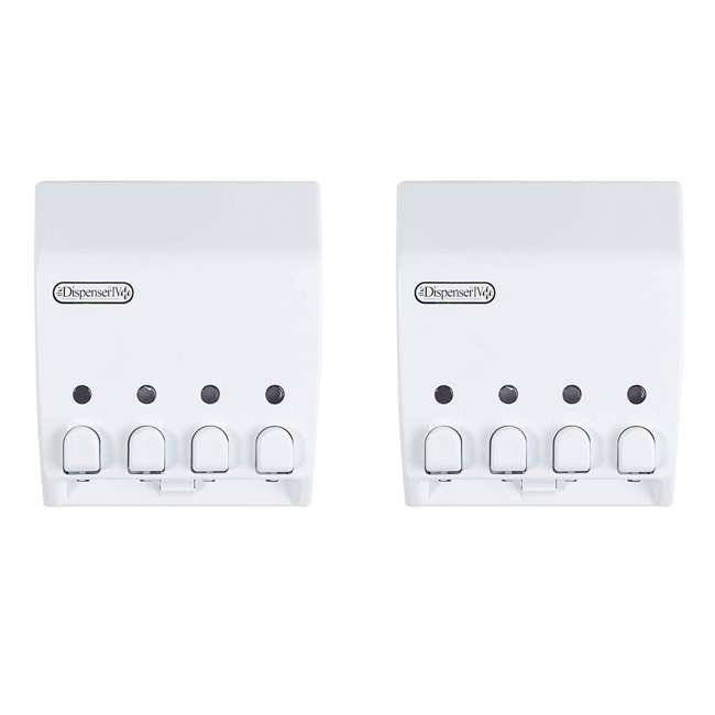 71450 Better Living Products Classic 4 Chamber Shower Dispenser, White (2 Pack)