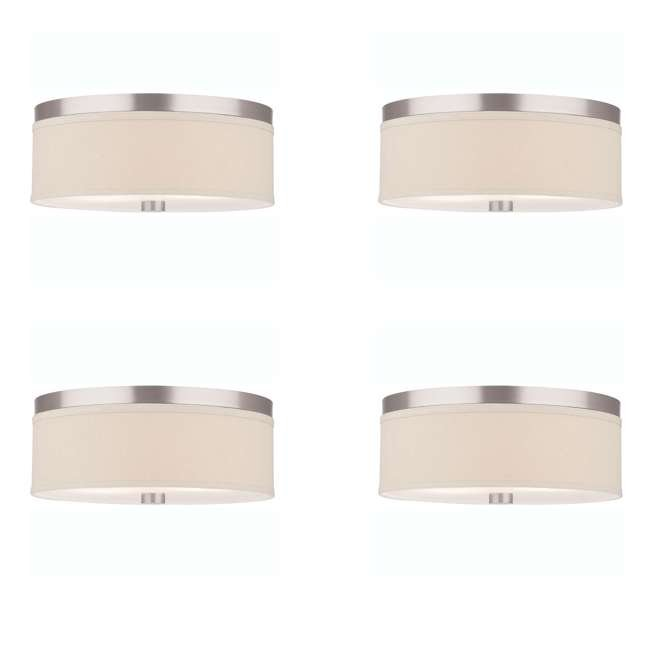 4 x PLC-F131836U Philips Forecast Lighting Embarcadero Flushmount, Satin Nickel (4 Pack)