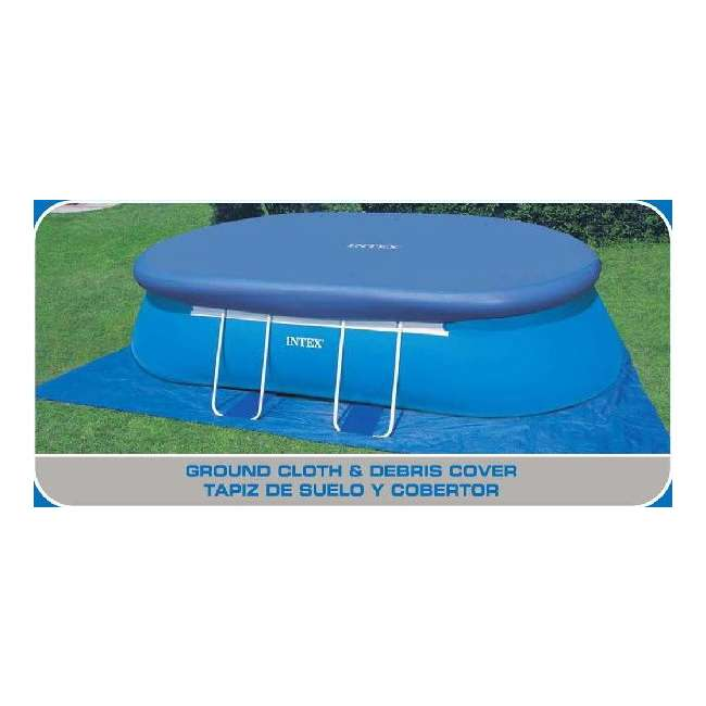 Intex 20 39 x 12 39 x 48 oval frame swimming pool set with for Intex pool handler