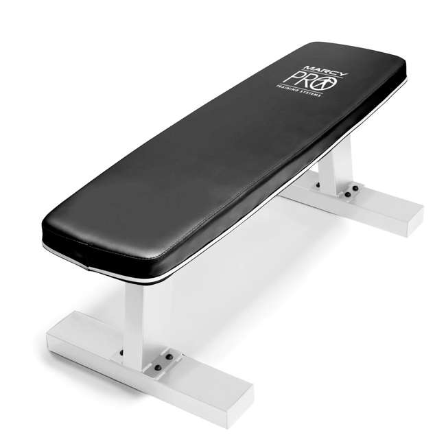 SB-5405-U-B Marcy Home Gym Exercise Fitness Workout Flat Board Weight Lifting Bench (Used) 1