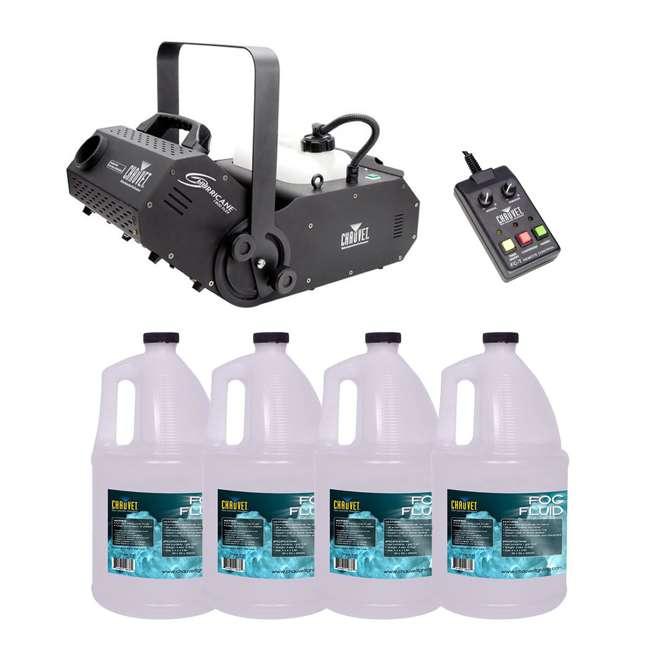 H1800FLEX + 4 x FJU Chauvet H1800 Hurricane Fog/Smoke Machine + 4 Gallons of Fluid