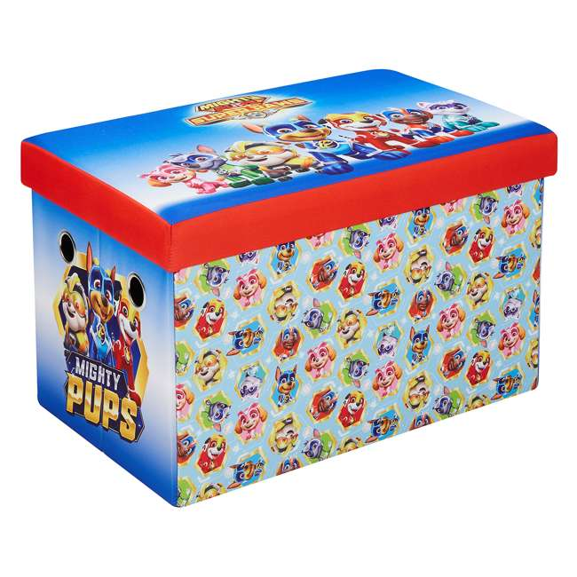 520023-005 Fresh Home Elements 24-Inch Portable Toy Chest and Storage Bench, Paw Patrol