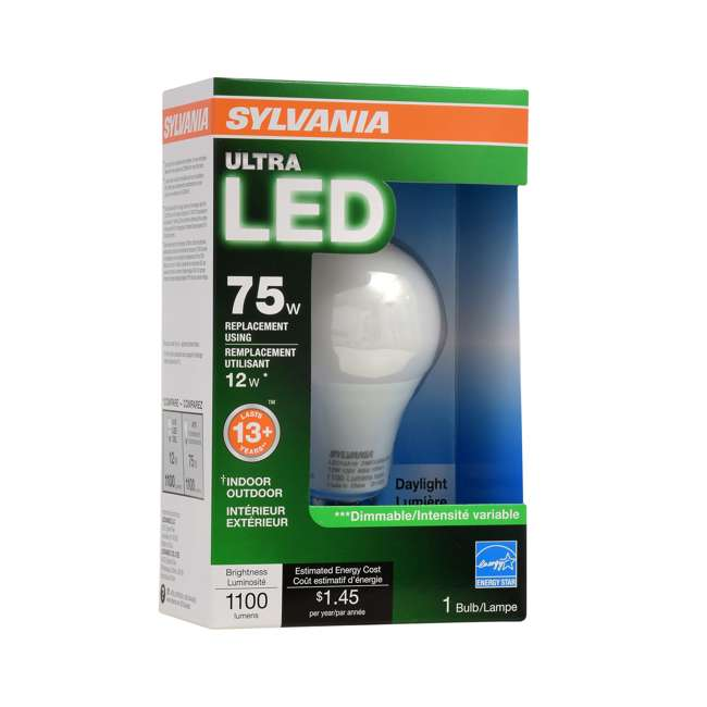 8 x SYL-74428 Sylvania A19 75-Watt LED Daylight Light Bulb (8 Pack) 3