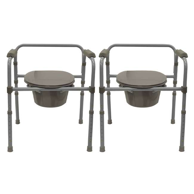 59024-COMMODE Bios Living Adjustable Commode Portable Toilet (2 Pack)