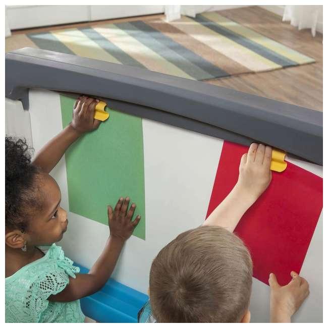 868500-U-A Step2 Jumbo Oversized Whiteboard and Chalkboard Art Easel for Kids (Open Box) 5