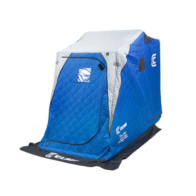 CLAM-12564 Clam 12564 Legend XL Thermal Ice Fishing Shelter with Deluxe Swivel Seat, Blue 1