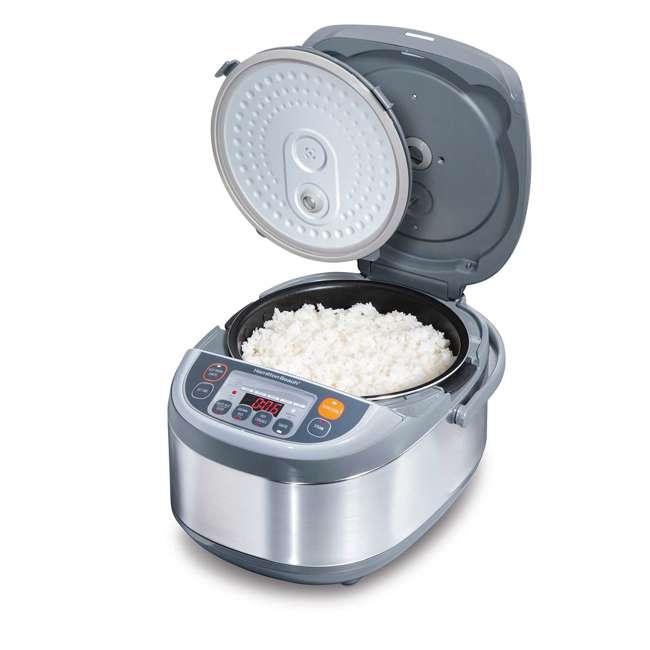 37570 Hamilton Beach 3.5 Quart Advanced Multi Function Rice Cooker, Stainless Steel 2