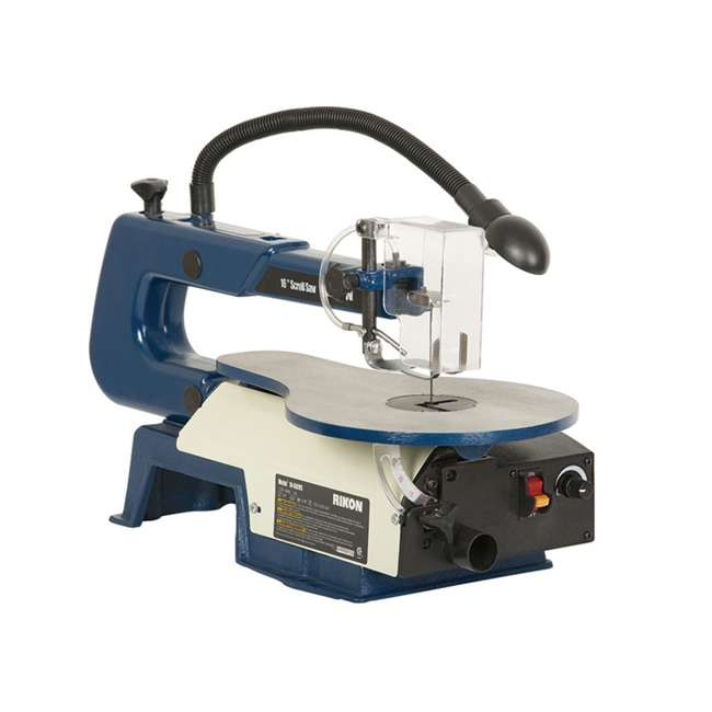 10-600VS RIKON 10600VS Tools 16 Inch Variable Speed Scroll Power Saw with Lamp, Blue