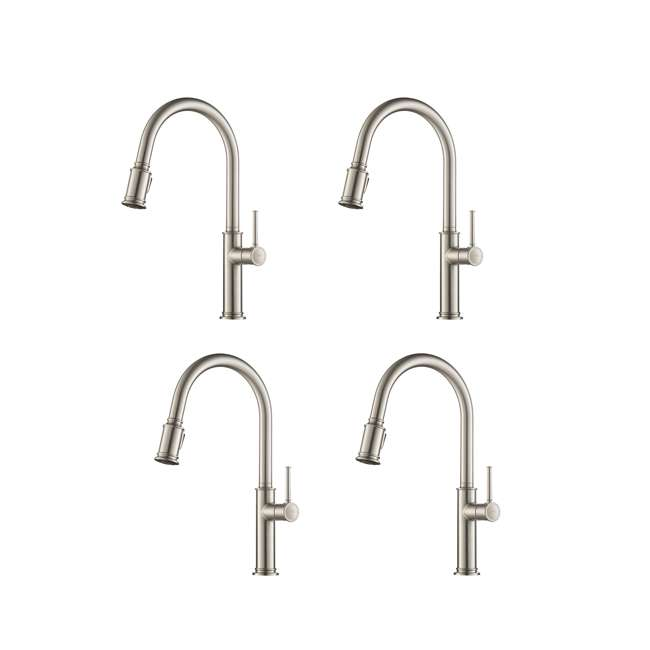 4 x KPF-1680SFS Kraus Sellette Pull-Down Lever Faucet, Stainless Steel (4 Pack)