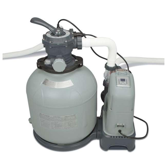 I28679 Intex Krystal Clear 2650 GPH Saltwater System & Sand Filter Pump (Brown Box) 2