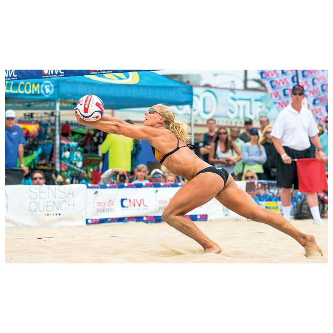 VQ2000-CNW Mikasa USA Size 5 Composite Volleyball, Light Blue and Blue 2