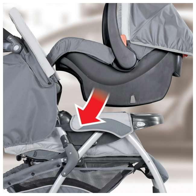 CHI-0007974872-OB Chicco Cortina CX Travel System, Iron Gray (OPEN BOX) 1
