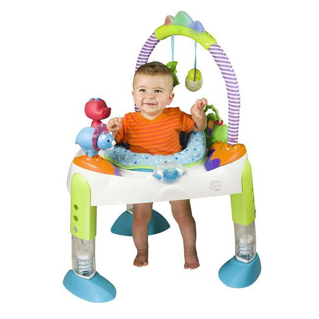 EVEN-61611769-U-A Evenflo Exersaucer Fast Fold & Go D is for Dino Baby Bouncer (Open Box) 1