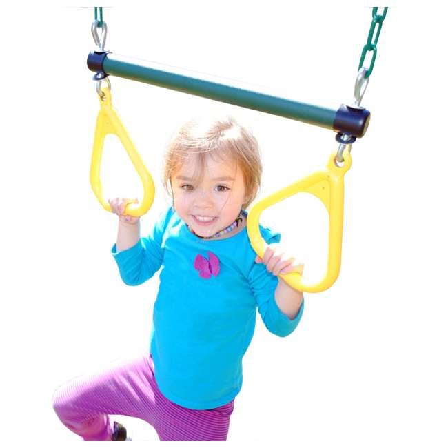 AA926-242 Creative Playthings AA926-242 Kids Playground Swing Set Ring Trapeze w/ Chain 2