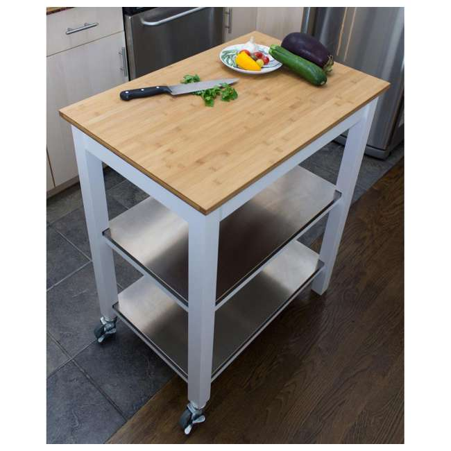 CSK-850 SpaceMaster Kitchen Cart with Bamboo Chopping Block  2