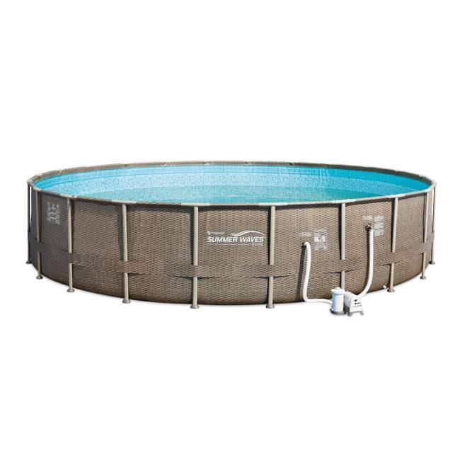 P4N02252B167 + 2 x K71071000167 Summer Waves Elite 22 Foot Pool Kit + Inflatable Rocking Chair Lounges (2 pack) 1
