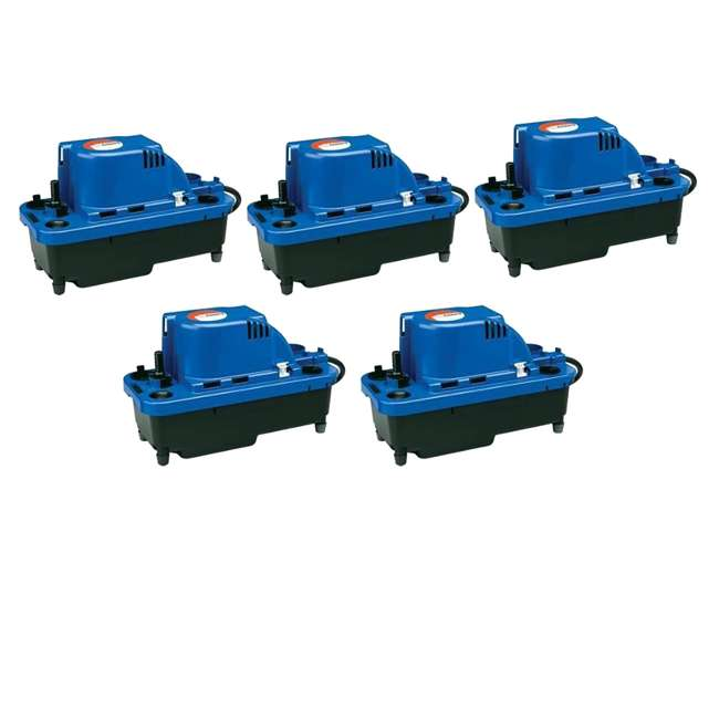 5 x LG-554530 Little Giant VCMX-20ULS 1/30 HP Automatic Condensate Pump (5 Pack)