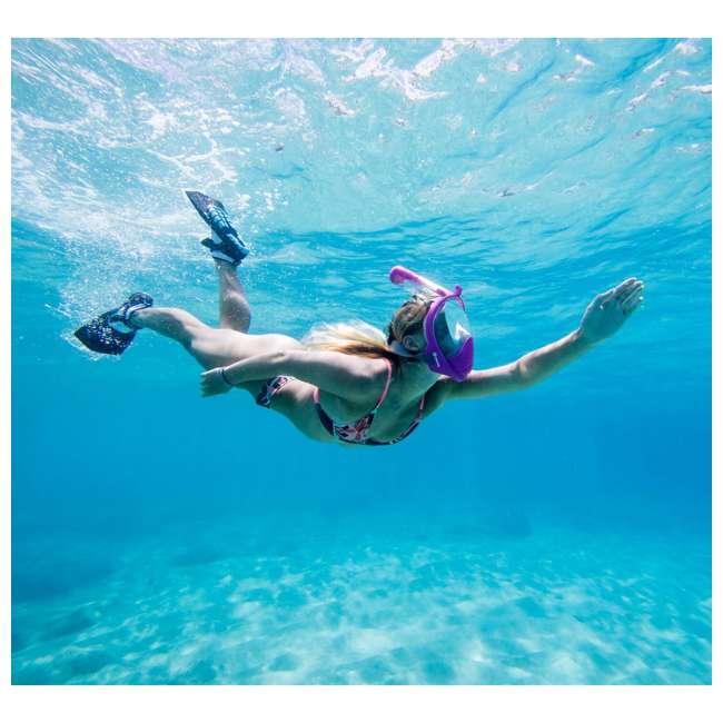 TS-PA-M11 Wildhorn Topside Men's 11 Hydro Snorkel Fins Swim Water Flippers, Pearl Aqua (2 Pack) 7