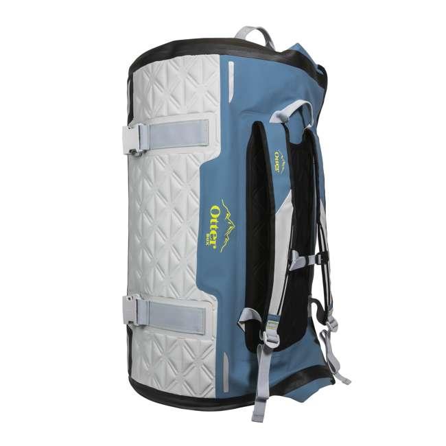 77-57798 Yampa 105 Liter Dry Duffle Waterproof Backpack Bag, Hazy Harbor Gray and Blue