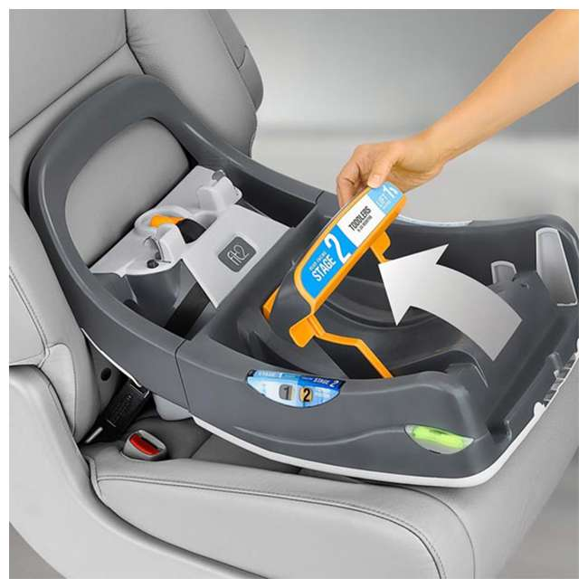 CHI-0507977155 Chicco Fit2 Infant/Toddler Rear Facing Car Seat w/ 2 Stage Base, Black Legato 2