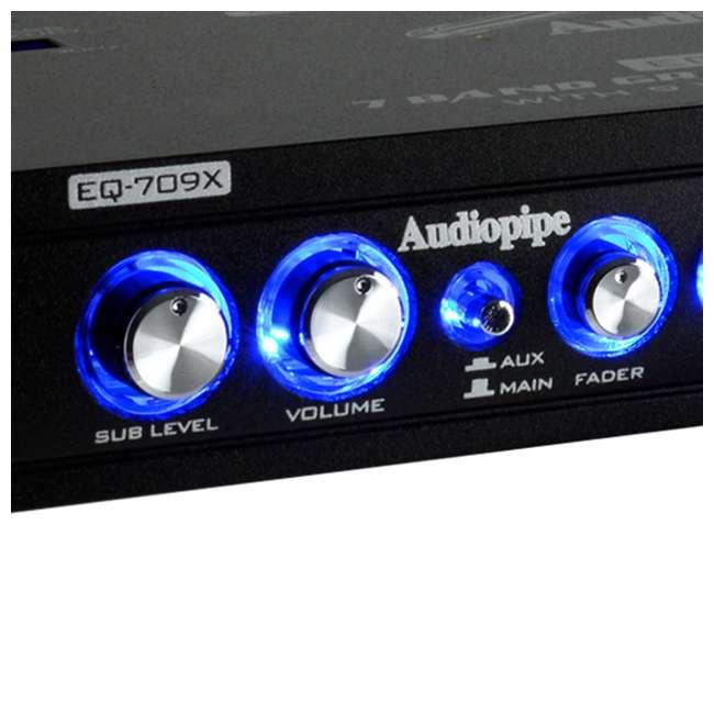 EQ-709X Audiopipe EQ-709X 7-Band Parametric Graphic Car Audio Equalizer 1