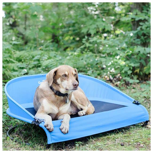 G3336TB Gen7Pets G3336TB Trailblazer Cool-Air Mesh Waterproof Cot Bed for Dogs, Blue 6