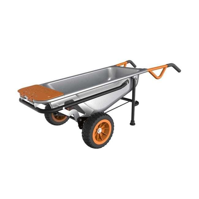 WG050-U-C Worx WG050 Aerot 8-In-1 Wheelbarrow Dolly t Garden rier - Missing Wheel