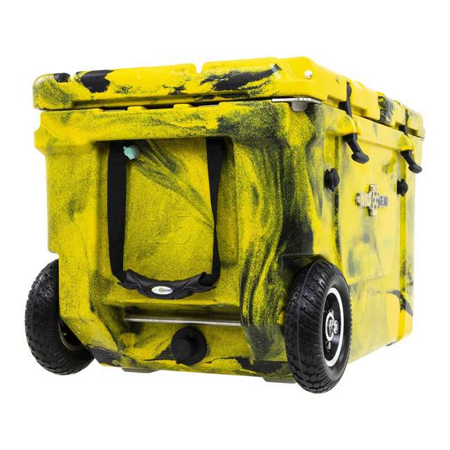 HC50-17YB WYLD HC50-17OB 50 Qt. Dual Compartment Insulated Cooler w/ Wheels, Yellow/Black 2