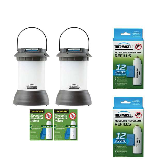 PS-LL2 Thermacell Mosquito Repeller Lantern & Refill Pack (2 Pack) & Refill (2 Pack)
