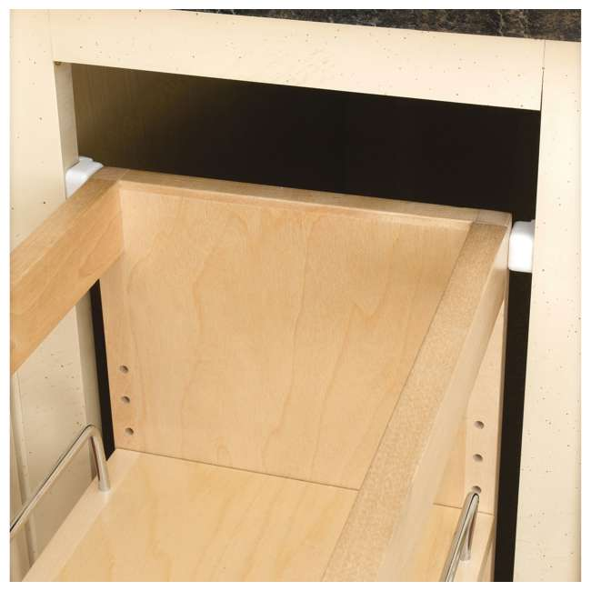 448-BC-5C-28 Rev A Shelf 5 Inch Wood Base Kitchen Cabinet Organizer, Maple 2