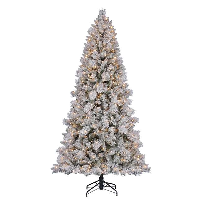Artificial Christmas Trees Clearance: Hallmark 7.5-Foot Northern Estate White Flocked Pre-Lit