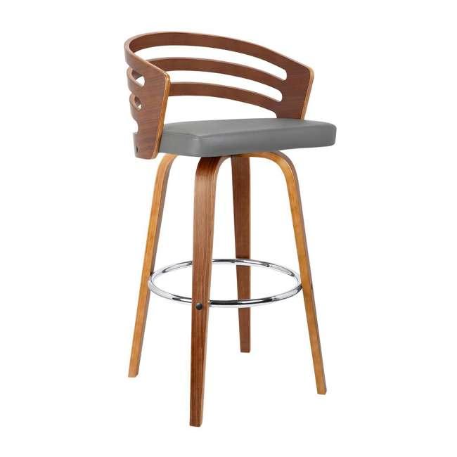 4 x LCJYBAGRWA30 Armen Living Jayden 30 Inch Mid Century Swivel Barstool Chair, Gray (4 Pack) 1