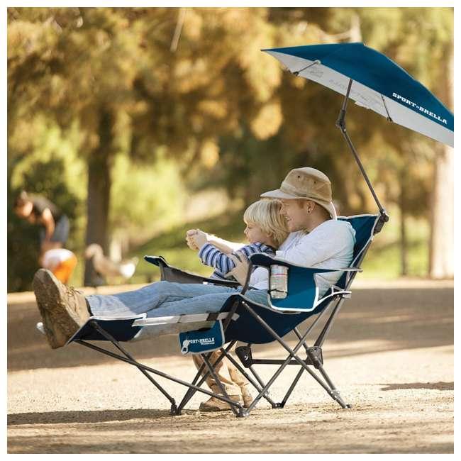 BRE03-615-01 Sport-Brella Umbrella Recliner Folding Chair, Blue 4