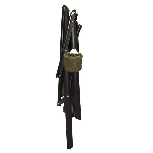 CVANXFC01152-2PK-U-B Caravan Canopy Infinity Suspension Folding Chair with Cupholder (2 Pack) (Used) 4