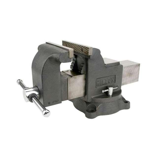 JPW-63304 + JPW-11110 Wilton WS8 8 Inch Steel Bench Vise w/ 3 Ball Peen Kit 3