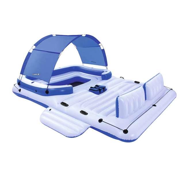 43105E-BW + 66639E Bestway CoolerZ 6 Person Raft + Electric Air Pump 1