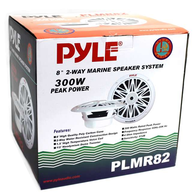 4 x PLMR82 Pyle PLMR82 8-Inch 300 Watt Waterproof Marine Speakers (8 Pack) 6