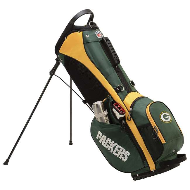 WGB9950GB Wilson 2018 NFL Carry Full Size Golf Club Bag with 8 Pockets, Green Bay Packers 1
