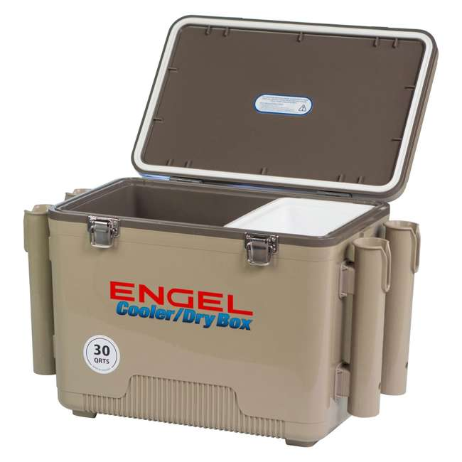 4 x UC30T-RH Engel Coolers 30-Quart Insulated Cooler Drybox with 4 Rod Holders (4 Pack) 3