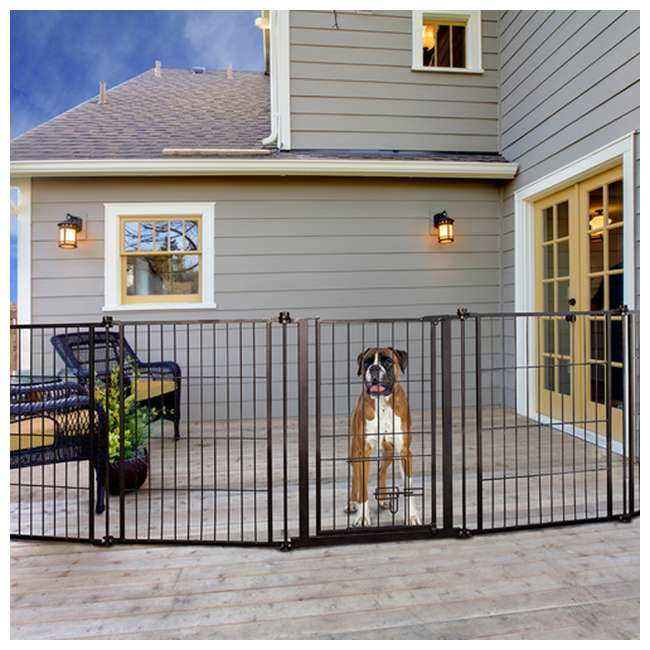 CAR480 Carlson 36-Inch Tall Outdoor Super-Wide Pet Pen and Gate, Black 5