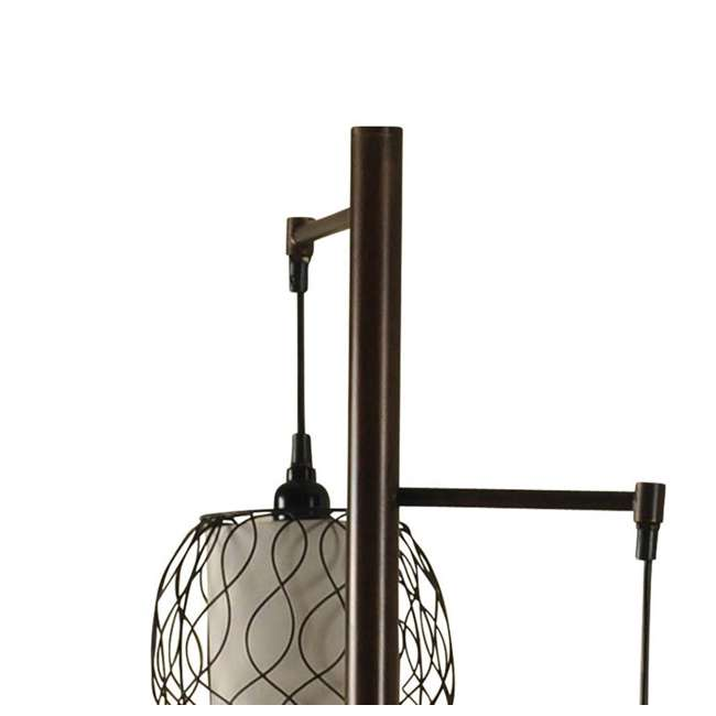 SC-L72385 Abode 84 Clifton Mid-Modern Bronze Floor Lamp with Caged Shades 4