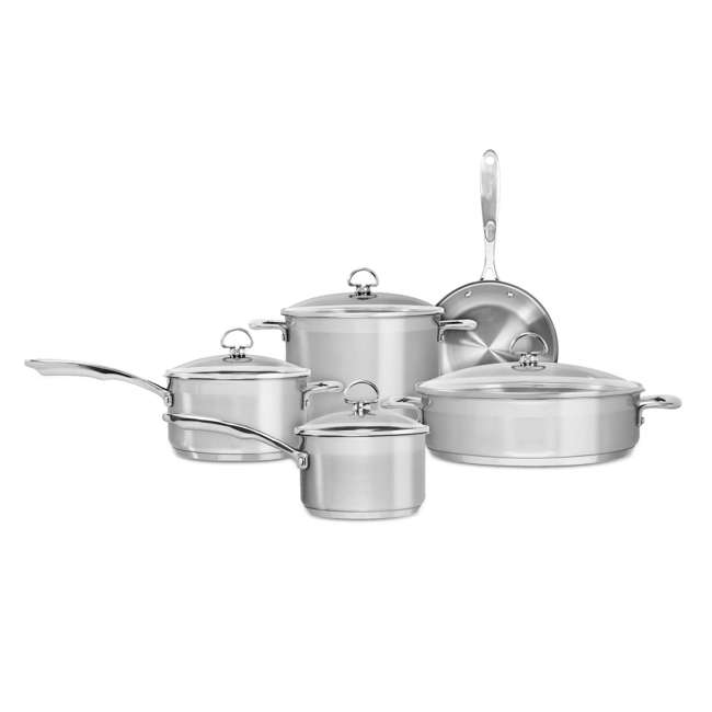 SLIN-9 Chantal Induction 21 Steel Cookware Set, 9-Piece (2 Pack) 1
