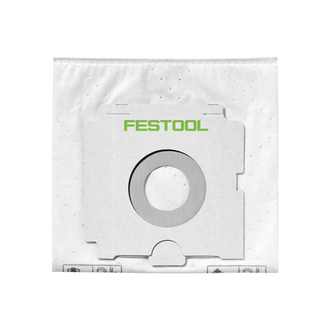 496187 Festool 496187 Selfclean Fleece Filter Bag For Dust Extractor CT 26, 5 Pack