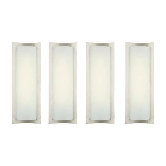 4 x PLC-F559536U Philips Forecast Bow Wrap Bathroom Wall Light, Satin Nickel (4 Pack)