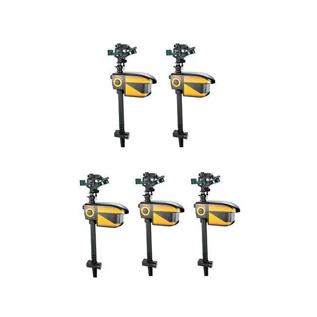 5 x Repel-CONT-Scarecrow 5 Contech SeCrow Motion Activated Animal Sprinklers