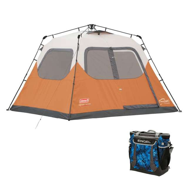 2000017933 + ENGCB2-P1SL Coleman Outdoor 6-Person Camping Tent & 24 Can Backpack Cooler