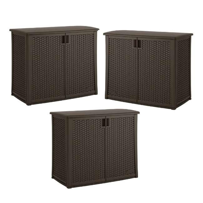 3 x BMOC4100 Suncast Elements 97 Gallon Backyard Oasis Storage Entertaining Station 3 Pack