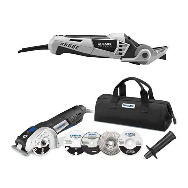 VC60-DR-RT-RB + US40-DR-RT-RB Dremel Rotary Tool & Saw Kit (Certified Refurbished)