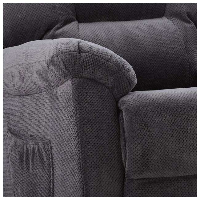 600398ii Coaster Home Furnishings Remote Power Lift Recliner, Charcoal 7